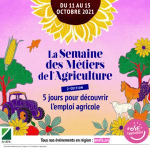 affiche de la semaine des métiers de l'agriculture